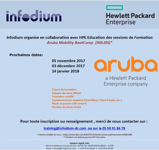 Formation Aruba BootCamp